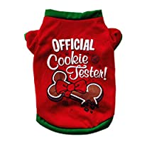 Gowind6 Cute Cartoon Christmas Soft Cotton Puppy Pet Dogs Costume T-Shirts (Bow M)