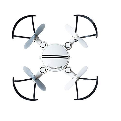 MCJL Mini-Drohne mit Quadrocopter, 2,4-G-Flugzeug, 4-Kanal-WiFi, Faltbare Höhe im Headless-Modus, um ferngesteuertes Drohnenkinderspielzeug zu halten,White