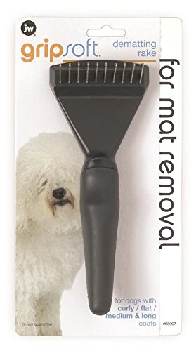 Artikelbild: William Hunter JW Gripsoft Dematting Grooming Rake for Dogs