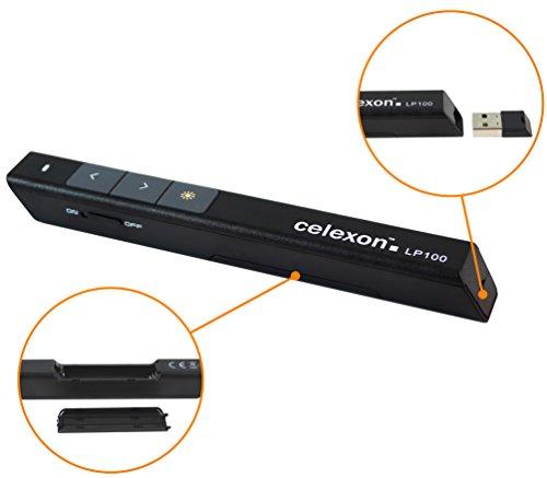 celexon Laser-Presenter Economy LP100, kabelloser Presenter, integrierter Laser-Pointer, hohe Reichweite - 3