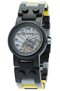 LEGO Ninjago Kendo Cole Minifigure Children's Quartz Watch with Grey Dial Analogue Display and Multicolour Plastic Link Strap 8020041