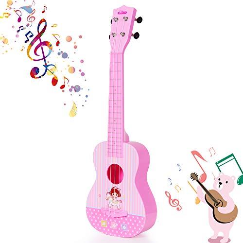 SGILE Juguete de Guitarra Ukelele Musical para Niños, 23 Pulgadas 4 Cuerdas Guitarra Clásica Juguete Eléctrico del Instrumento Música para Principiante, Regalo de Cumpleaños para Niños Niñas Fiesta