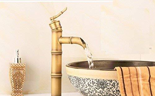 XINSU Home Waschbecken-Mischbatterie-Badezimmer-Küchen-Becken-Hahn auslaufsicher speichern Wasser-Kupfer-Küche kühlen Retro Schwarzes Louis ab
