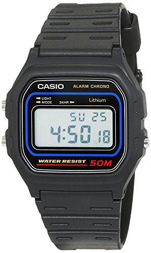 Casio Herren Armbanduhr Collection Vintage Schwarz Resin W-59-1Vqes