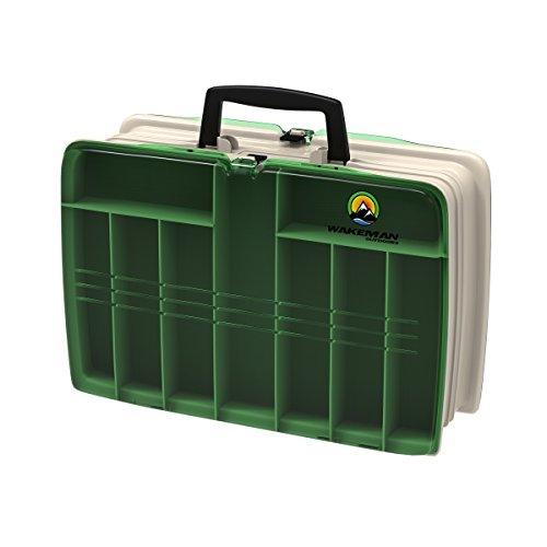 Wakeman Angeln Zwei-seitige Tackle Box-30,5x 22,9x 10,2cm -