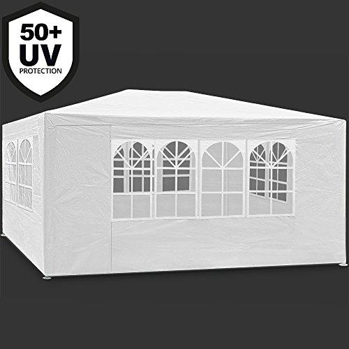 Deuba Festzelt Maui 3x4m Weiß | 12m² Pavillon mit 4 aufrollbaren Seitenwänden | wasserabweisend | UV-Schutz 50 + | Farbauswahl