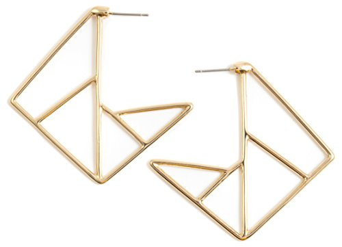 Happiness Boutique Damen Geometrische Ohrringe in Goldfarbe | Statement Ohrringe Moderne Abstrakte Formen (Abstrakte Formen)