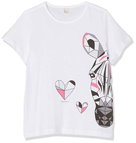 Esprit kids t-shirt ss bambina, bianco (white 010), taglia produttore: 116+
