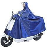 RYY Impermeabile Impermeabile, Impermeabile for Motociclisti Uomini e Donne Adulti in Sella a poncio Ispessimento, Auto elettrica for Una Persona Anti-Tempesta (Color : Blue)