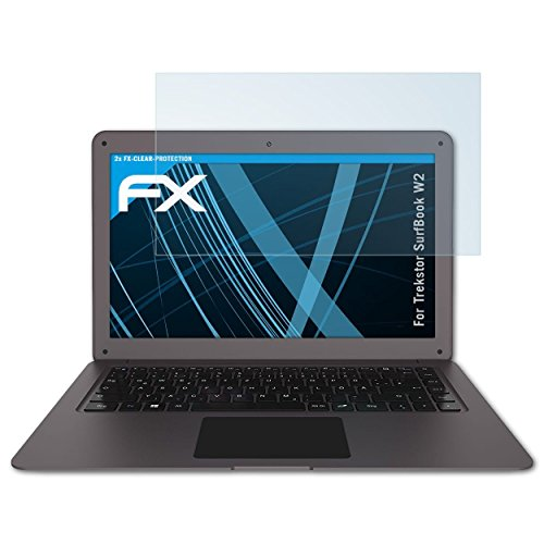 atFolix Schutzfolie kompatibel mit Trekstor SurfBook W2 Folie, ultraklare FX Bildschirmschutzfolie (2X)