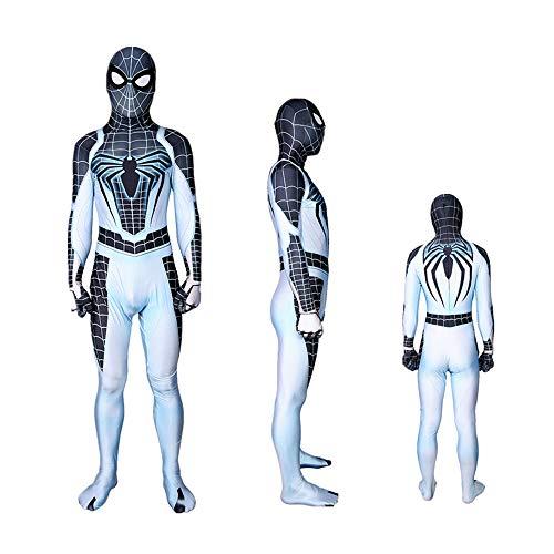 DFRTYE Erwachsene Kinder Neues Konzept Spider-Man Kostüm Halloween Cosplay Superheld Verkleidung Kostüm Mask 3D Print Superheld Lycra Body,Child-S (Kostüm Man Spider Neue)