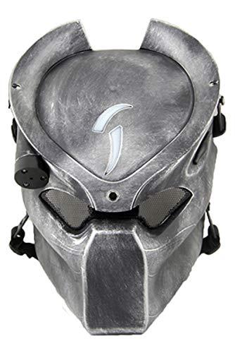edator Outdoor CS Games Maske Ventilate Belüften Sie die Gesichtsschutzmaske mit Einer Infrarotlampe Cosplay ()