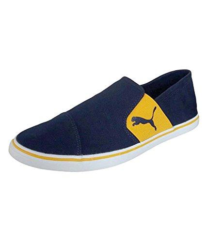Puma Men's Elsu V2 Slip On Idp Grey Violet and Blue Danube Loafers and Moccasins - 9 UK/India (43 EU) (36323103)