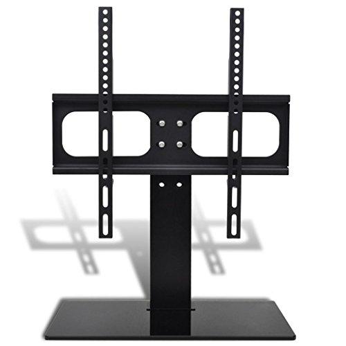 Vidaxl supporto a pavimento staffa tv con base 400x400 mm 2