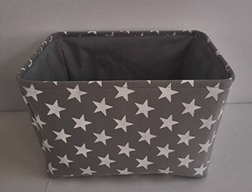 grigio-star-tela-cesto-portaoggetti-alta-qualita-cestino-per-uso-domestico-con-stelle-bianche-40-cms