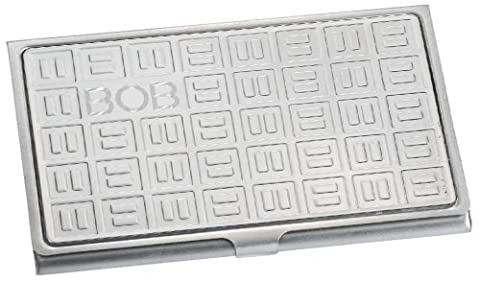 Domino Stainless Steel Business Card Case