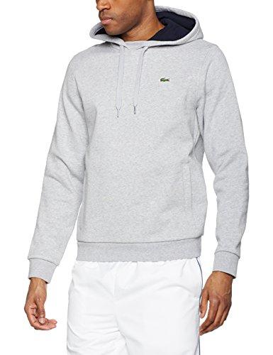 Lacoste SH2128 Herren Sport  Sweatshirt , Grau (Argent Chine/Marine), X-Large (Herstellergröße: 6)