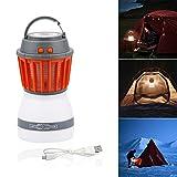 Bawoo Campinglampe UV Licht Insektenvernichter Mückenkiller, Camping Lantern IP67 wasserdicht tragbar Mückenvernichter Zeltlampe USB Wiederaufladbar für Innen und Außen