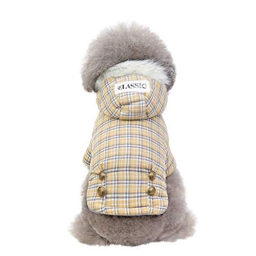 Cat Kostüm Classic - Hunpta@ Pet Hundemantel Jacke Hundepullover, Plaid Pet Coat Herbst Und Winter Classic Keep Warm Cat Dog Clothing Wintermantel Winterjacke(Khaki,XXL)