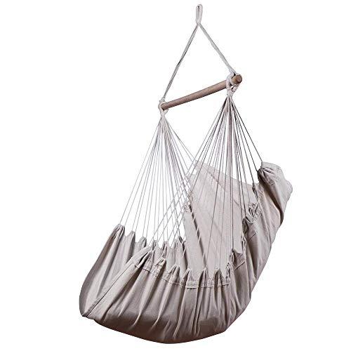 Chihee Hängematte Stuhl 330 Pfund Kapazität Große Hängematte Stuhl Entspannung Hängesessel Baumwolle Weben für Höchsten Komfort und Haltbarkeit Innen/Draußen Schlafzimmer Terrasse Deck Hof Garten