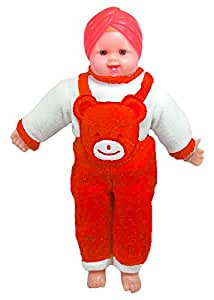 Tickles Red Pagdi SardarJi Laughing Baba Stuffed Soft Plush Toy Love Girl 42 cm