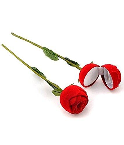 Velvet Rose Flower Ring Case Diamond Ring Holder Jewelery Storage Box Gift 1 pcs
