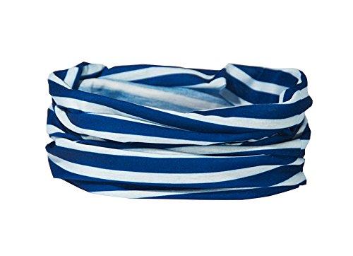 French Blue Breton Stripe Halswärmer–RUFFNEK® Multifunktions-Schal/Snood–One Size für Herren, Halskette & Kinder (Roller Bekleidung Hockey)