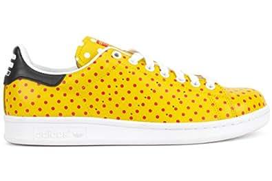 060b0456197c5 ... Adidas Originals Men s Pharrell Williams Stan Smith Sneakers YELLOW RED  WHITE 10 D