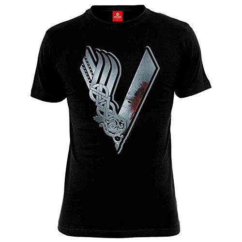 Vikings Logo Camiseta Negro XXL