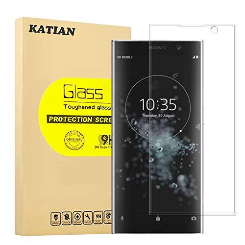 Sony Xperia XA2 Plus Panzerglas Schutzfolie, KATIAN 9H Panzerglasfolie Hartglas, Ultra-klar 3D Vollständige Abdeckung , 0,33mm, Anti-Kratzen Wasserdicht Displayschutzfolie für Sony Xperia XA2 Plus