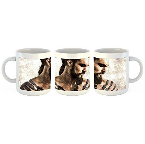 Game of Thrones Kal Drogo – Tasse mit Motiv bedruckt, 300ml C-Henkel. Tolles Geschenk für Büro, Küche, Geburtstag, Ihre neue Lieblingstasse zum Frühstück