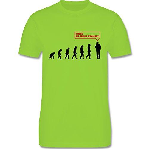 Evolution - Evolution Vermasselt - Herren Premium T-Shirt Hellgrün