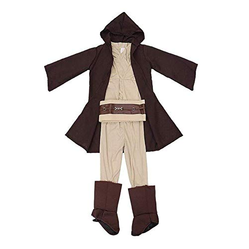 Kostüm Cosplay Obi Kenobi Wan - Lackingone Star Wars Jedi Obi Wan Kenobi Kostüm Cosplay Halloween Kinder Anzug Uniform (L)
