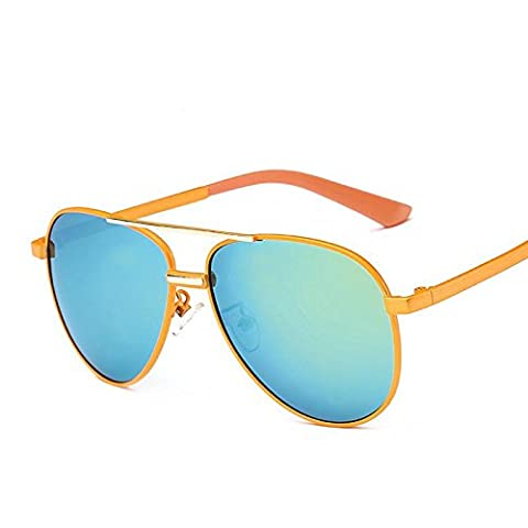 Polarized Sunglasses Fashion Sunglasses Cool Flashes Children Cute Mirror Youth Classic , Blue Green