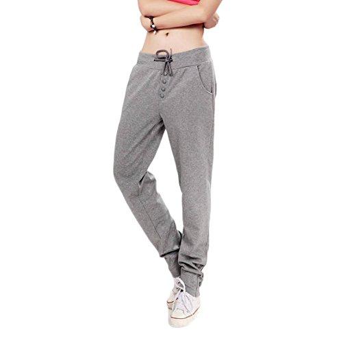Gaorui Pantalon Femme Hip-Hop Yoga élastique avec Cordon Extensible Casual Sport