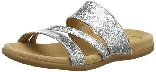 Gabor Shoes Damen Fashion Sandalen, Silber (Silber 71), 39 EU