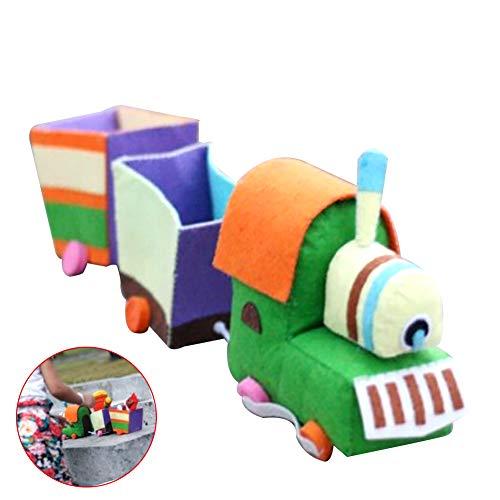 Hilai 1pc DIY Zug-Spielzeug-Non-Woven-Gewebe-DIY Zug Filz Applique Kit Handbastelbedarf Nähen Kunstprojekte für Kinder Kinder Jungen und Mädchen Goft (Diy Zug Kostüme)