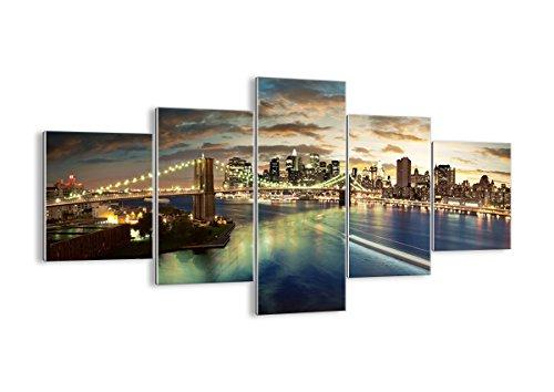 Bild auf Glas - Glasbilder - fünf Teile - Breite: 125cm, Höhe: 70cm - Bildnummer 0226 - fünfteilig - mehrteilig - zum Aufhängen bereit - Bilder - Kunstdruck - GEA125x70-0226