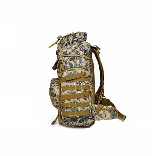 Impermeabile Oxford Alpinismo Borsa All'aperto 3D Sport Zaino,Camouflage-OneSize Brown