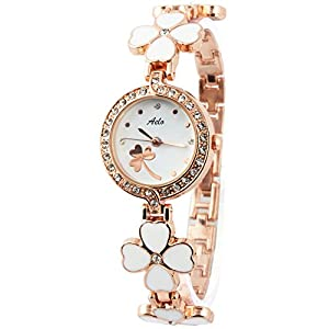 Aelo Stylish Analog White Dial Girls Watch - Www1025