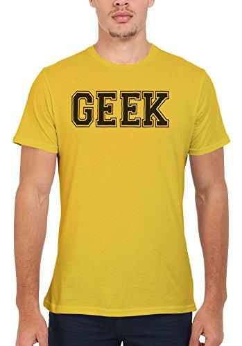 Geek Nerd Cool Funny Men Women Damen Herren Unisex Top T Shirt Licht Gelb