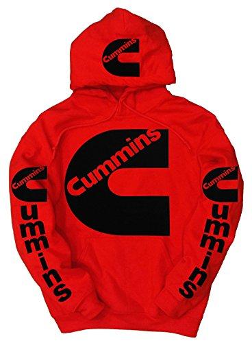 cummins-felpa-con-cappuccio-uomo-red-xx-large