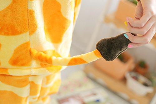 Wealsex unisex Rolle Spielen Kostüm Tier Flanell Einteiligen Pyjamas Halloween Cosplay Fastnachtskostüm Männer und Frauen Hirsch