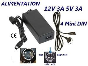 Alimentation 5V 2.5A 12V 1.5A avec fiche 4 Pin
