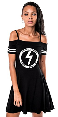 Killstar Kleid GLOOM BARDOT CHEERLEADER DRESS schwarz Schwarz