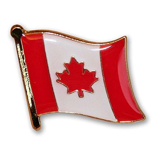Flaggen-Anstecknadel / Accessoire (USA, UK, europäische Union EU, Frankreich, Japan, China, Deutschland, Italien, Kanada, Schweiz, Nordkorea, UdSSR, Israel, Russland, Irland), ideal als Geschenk Kanada