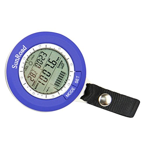 Leoboone Angeln Angeln Barometer Multifunktions-LCD-Digital-Outdoor-Angeln Barometer Höhenmesser Thermometer