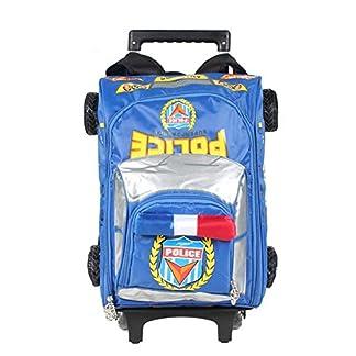 419%2BuXAhuHL. SS324  - beibao shop Trolley Bags Modelo 3D Estudiante Bolsos de la Carretilla, Nylon Impermeable Resistente al Desgaste Carga El Hombro Mochila Escolar