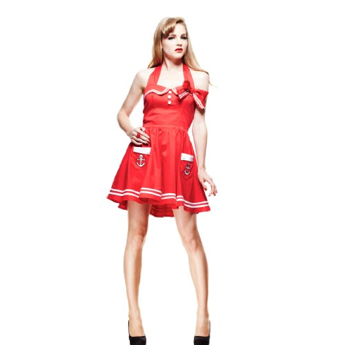 Hell Bunny - Robe -  Femme Rouge Rouge x-large Rouge