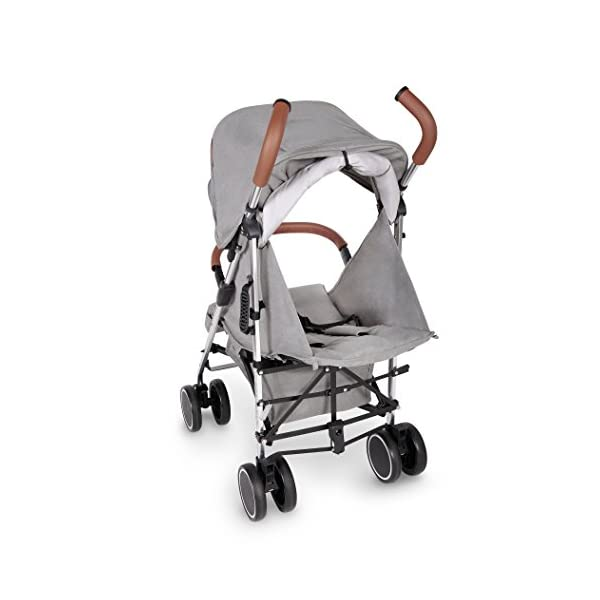 Ickle Bubba Baby Discovery Stroller| Lightweight Stroller Pushchair | Compact Fold Technology for Easy Transport and Storage | UPF 50+ Extendable Hood | Grey/Silver Ickle Bubba ONE-HANDED 3 POSITION SEAT RECLINE: Baby stroller suitable from 6 months to 22kg. 4 years old; features rain cover UPF 50+ RATED ADJUSTABLE HOOD: Includes a peekaboo window to keep an eye on the little one; extendable hood-UPF rated-to protect against the sun's harmful rays and inclement weather LIGHTWEIGHT DESIGN WITH COMPACT FOLD TECHNOLOGY: Easy to transport, aluminum frame is lightweight and portable-weighs only 7kg; folds compact for storage in small places; carry strap and leather shoulder pad included 7